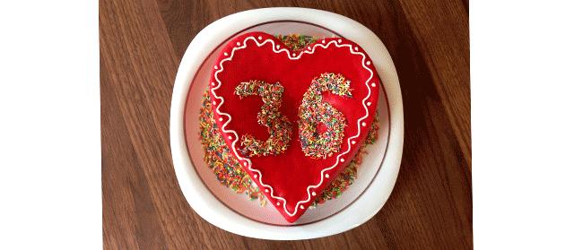 Geburtstagskuchen mit Jahreszahl
