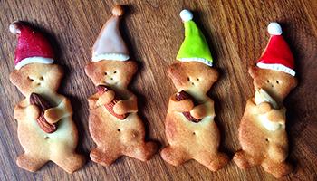Weihnachtskekese Bärenkekse mit Nuss