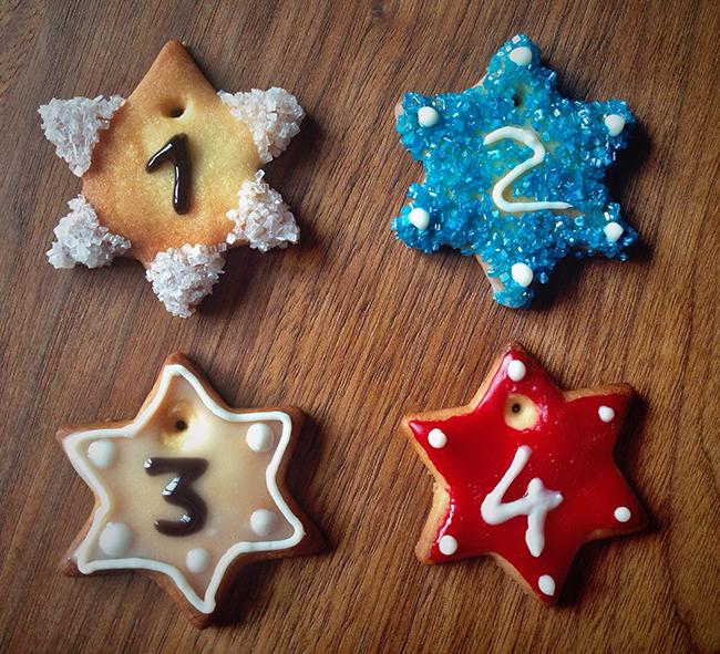 Keks mit Zahl für Adventskalender