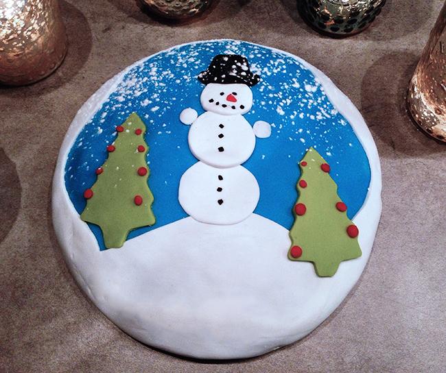 Schneemannkuchen Winterkuchen