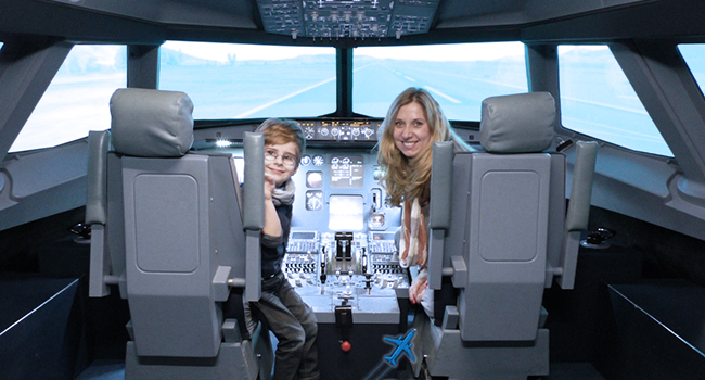 Erlebnis im Flugsimulator