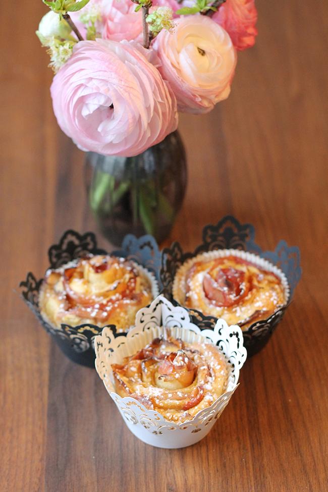 Muffins im Rosendesign