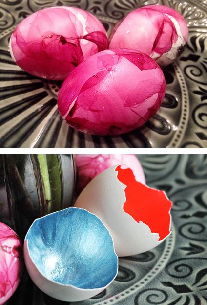 DIY Ostereier mit Nagellack verschönern