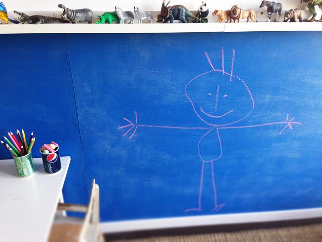 Kinderzimmer gestalten und dekorieren mit einer Tafelwand
