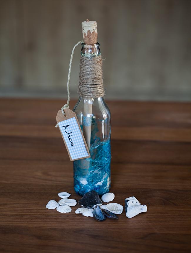 Flaschenpost Einladung für die Beachparty