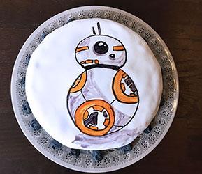 Star Wars Kuchen BB-8 Kuchen
